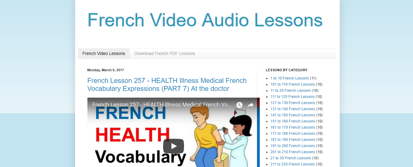 French Video Audio Lessons